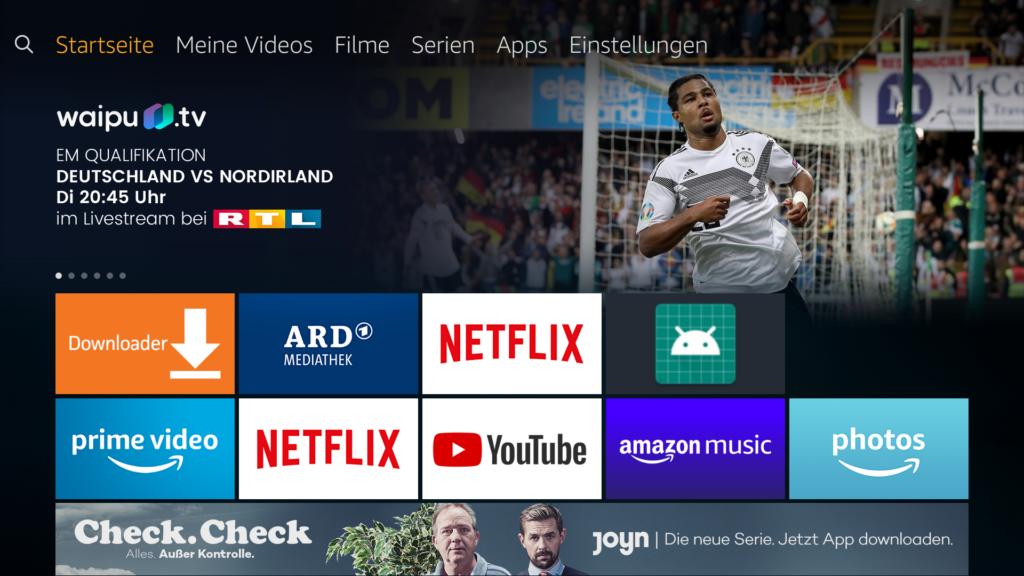 Amazon FireTV Startseite